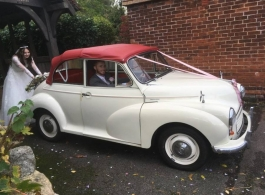 Morris Minor for wedding hire in Margate